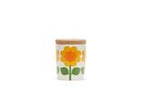 Floryd:  kleine Dose mit Holzdeckel Blume gelb