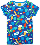 DUNS Kurzarm Shirt Balloons dunkelblau