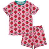 Maxomorra Pyjama set SS Strawberry
