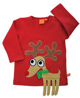 50 % Sale! Lipfish Langarmshirt Red Reindeer Gr. 110