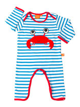Lipfish Jumpsuit Crab LS Blue/white