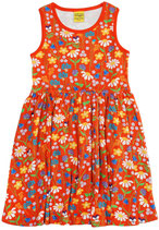 DUNS Midsummer mandarin red Sleevless Dress Gathered