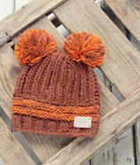Sale! 50 % Blade & Rose Wintermütze Burnt Orange Double Bobble Hat