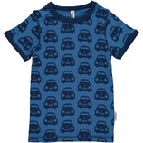Maxomorra Top SS Cars Blue gr.122/128