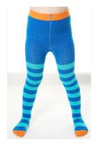 DUNS Strumpfhosen blue/turquoise, orange toe Gr. 110/116