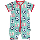 Maxomorra Playsuit Football Gr. 80