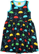 DUNS Umbrellas dunkelblau Sleevless Dress Gathered