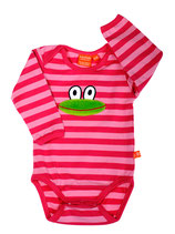 Lipfish Body Frog cerise/pink striped langarm
