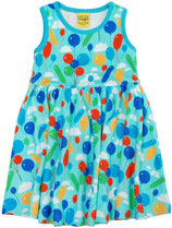 DUNS Balloons hellblau Sleevless Dress Gathered