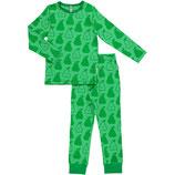 Maxomorra Pyjama Set LS Pears Green