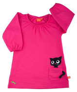 Lipfish Dress Pocket Kitten Cerise langarm