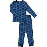Maxomorra Pyjama Set LS Cars Blue