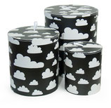 Färg & Form Pappbehälter Moln/Wolke schwarz