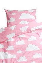 Färg & Form Kinder-Bettwäsche Moln/wolke rosa