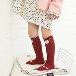 Mini Dressing Kniestrümpfe Bär rotbraun Gr. S (1-2 Jahre)