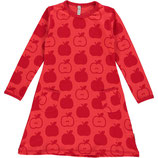 Maxomorra Kleid LS Apple red Gr. 122/128