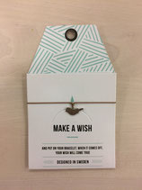 mint - Make a Wish bird bracelet Mocha