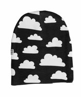 Färg & Form Mütze Moln/Wolke schwarz 6 Monate-2 Jahre (Gr. 48/50)