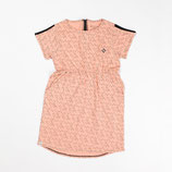 Atracktion: Kathy Dress Dusty Rose Small Stripes