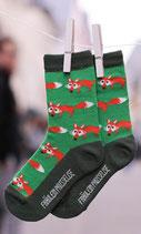 Fräulein Prusselise Socken grün mit Fuchs