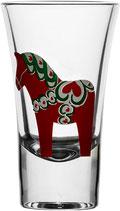 Sagaform 4er-pack Dalapferd Schnapsglas