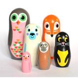 OMM-Design Animals Eule Matryoshka