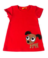Lipfish Dress SS Puppy red Gr. 86/92