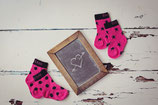 Blade & Rose Socken Hot pink & black