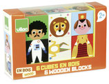 Vilac: Lustige Figuren Puzzelblocks