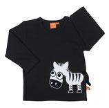 Lipfish Shirt Zebra black langarm
