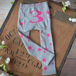 Blade & Rose Leggings grau/pink mit Zahl 3 (3-4y)