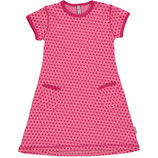 Maxomorra Dress SS Dots cerise Gr. 98/104