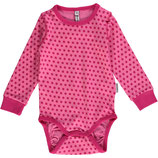 Maxomorra Body LS Dots cerise