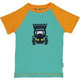 Maxomorra Top SS Tractor PRINT blue