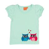 Lipfish T-Shirt Owl mint green Gr. 62/68