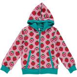 Maxomorra Cardigan Hood Strawberry