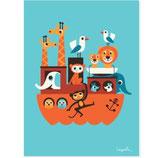 """OMM-Design Poster """"Noahs Arche"""" Ingela P Arrhenius"""