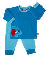 Lipfish Pyjamas Elephant blue