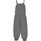Maxomorra Jumpsuit Waves Black/white