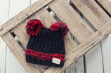 Sale! 50 % Blade & Rose Wintermütze Black Double Bobble Hat 2-5 Jahre