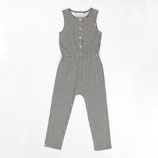 Atracktion: Clara Jumpsuit Antique White Split Striped