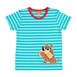 Lipfish T-Shirt aqua striped Bulldog