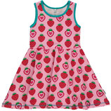Maxomorra Dress Gathered Strawberry