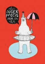 """Sale! 50 % Poster Highway Design """"Du duger"""" rot"""