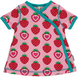 Maxomorra Dress Wrap SS Strawberry