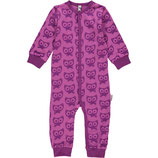 Maxomorra Rompersuit Button LS Cat Purple