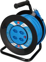 Kabelrolle 50m schwarz-blau