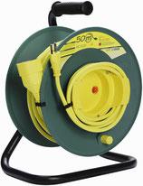 KU HASPEL Kabelrolle olivgrün-gelb 50m mit Thermoschutz