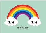 Studio Inktvis kaart You-me make a rainbow