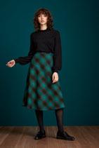 King Louie Juno Skirt Cornwall Check Pine Green